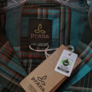 NWT- Prana- Mens long sleeve dress shirt